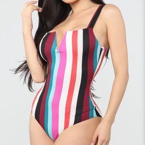 NWT Striped bodysuit